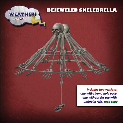 Bejeweled Skelebrella
