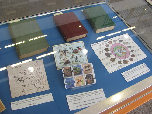 """Rewriting the Book of Nature"" (Darwin exhibit) at OHSU Library"