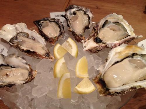 おまかせ牡蠣の盛り合わせ@Oysterbar&Wine BELON (オイスターバー&ワイン ブロン)