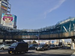 No.8 阿倍野歩道橋を地上から望む(東側)3