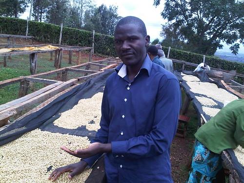 worker on the Kagumo-ini farm