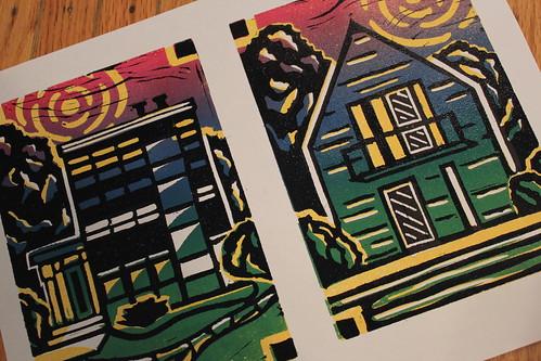 20120308. House block prints.
