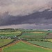 Janet E Davis, The triangular field (Ovington), 1993-94, oil on board, 20x24 inches