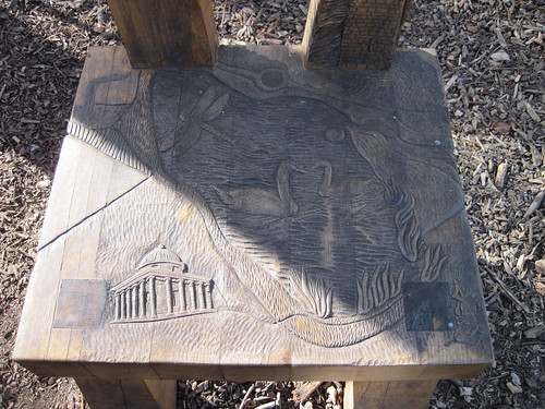 Hardwick Park, Carved chair
