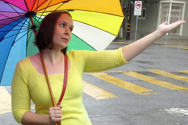 Yep, still raining! Good thing I have this umbrella. (Photo by Pat Zimmerman.)