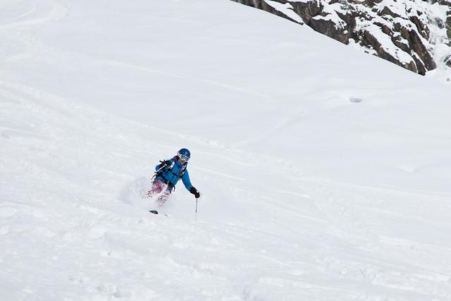 Skiing in Pas de Chevre