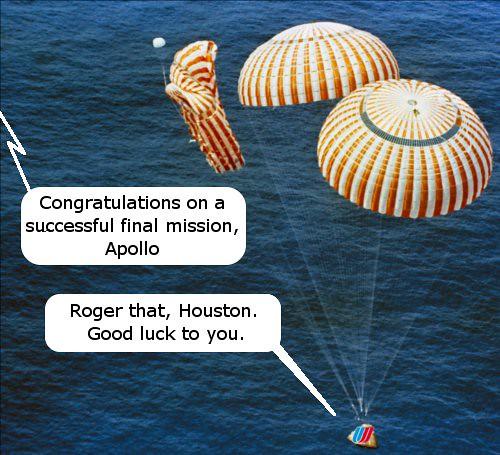 United Sends Apollo On Its Last Mission