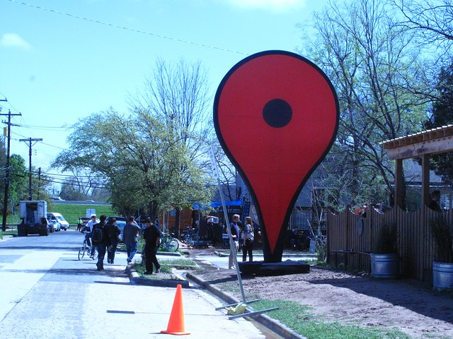 Google Maps House in the Google Village - SXSW 2012 - 無料写真検索fotoq