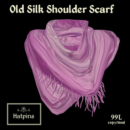 Hatpins - Old Silk Shoulder Scarf Advert - Pink