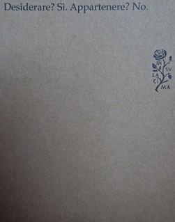 Jeannette Winterson, Perché essere felice quando puoi essere normale?, Modadori 2012. art director: Giacomo Callo, progetto grafico: Marcello Dolcini, graphic designer: Susanna Tosatti. Quarta di copertina (part.), 1