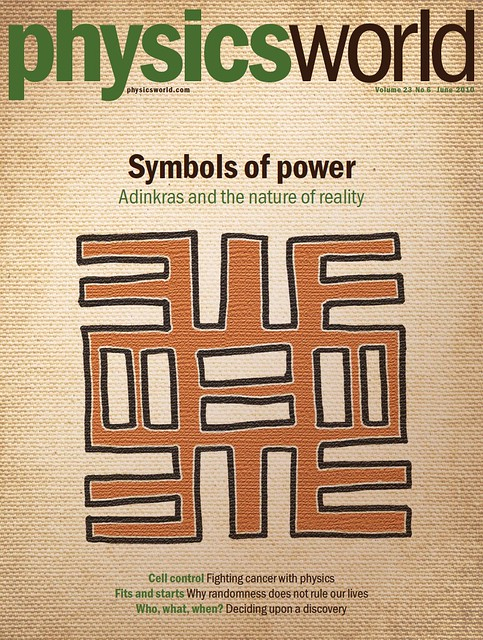 Cover of Physics World June 2010