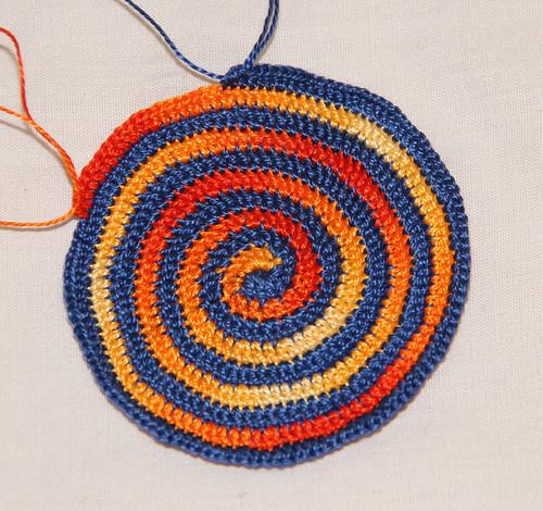 Spiral kippah (in progress)