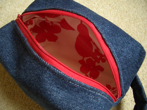 Denim Washbag