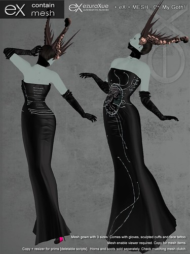 + eX + MESH . Oh My Goth! Gown