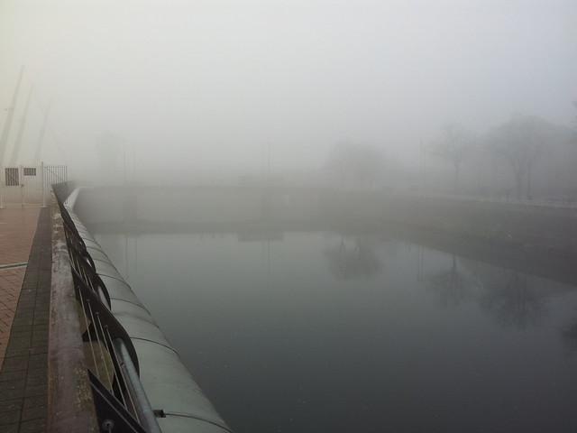 Cardiff in the fog