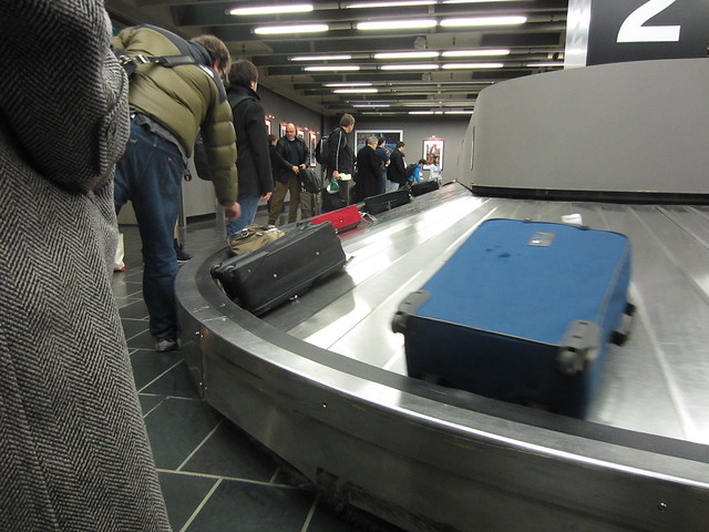 Luggage on the carousel