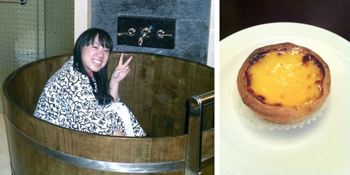 tub and egg tart