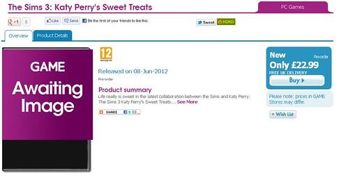 Pre-Order Sweet Treats via Game UK!