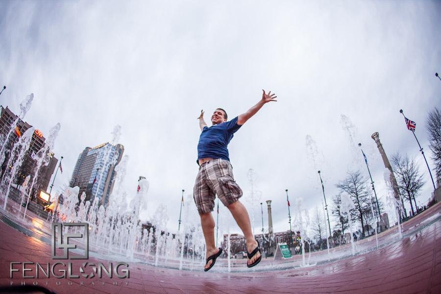 FlickrLeap2012 Leap Year Day Photo at Atlanta's Centennial Olympic Park & CNN Center