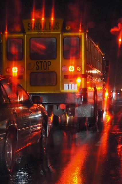 Rain and Bus