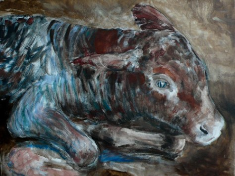 New born calf/ work in progress