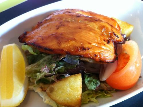 Salmon salad (half portion) at Fresco Bistro in Cork City