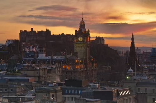 Edinburgh Sunset 17 March 2012