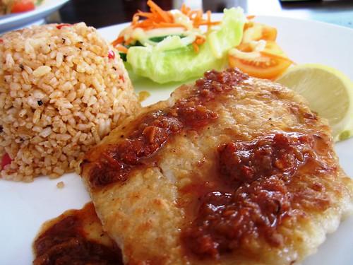 Anson grilled fish sambal