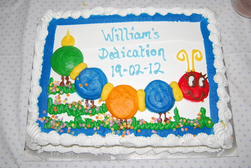 William's Dedication cake