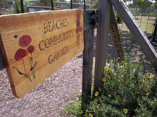 Community garden entry