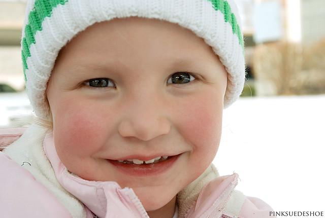 happy snow face