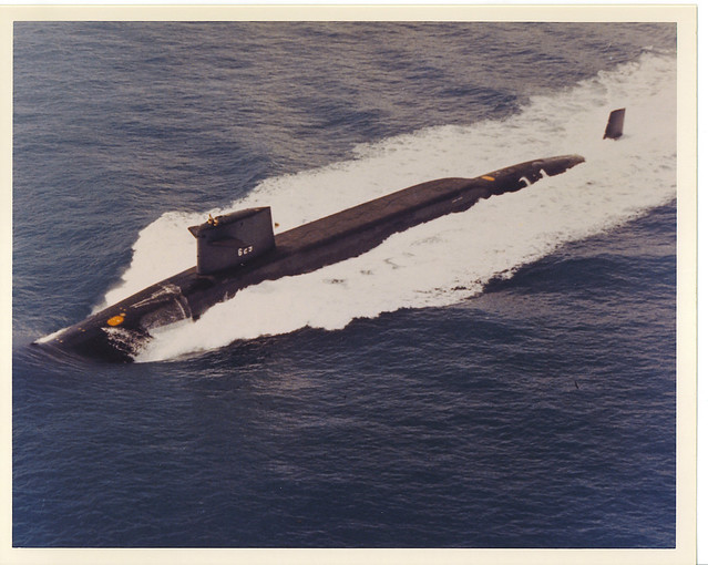 Photo of the Boone underway on the surface