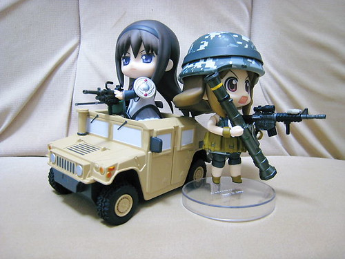 Homura and Army-san is ready for some action