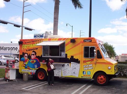 Frita Man Food Truck At Walgreens