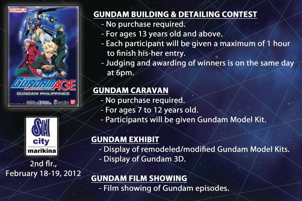 SM City Marikina Gundam Detailing Contest Feb 2012