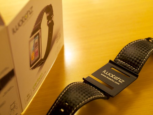 iWatchz Carbon — White Stitching