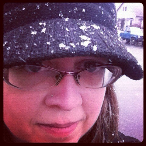 Snowing on my bad attitude.
