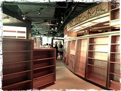 Empty Shelves, Last Day of PageOne Bookshop at Vivocity