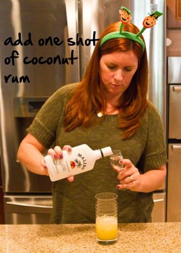 add rum shot