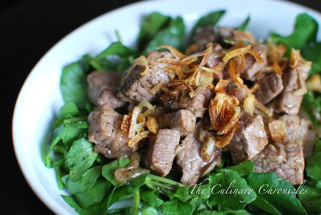 Bò Lúc Lắc Xà Lách Son (Vietnamese Shaking Beef over Watercress)