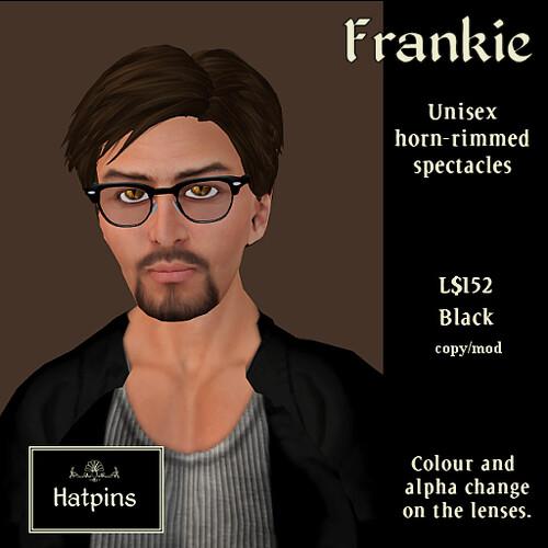 Hatpins - Frankie Horn-Rimmed Specs - Black