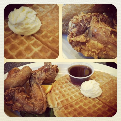Mmmm, chicken and waffle