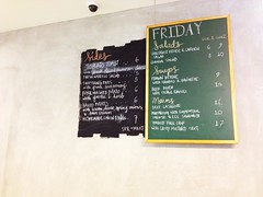 Blackboard menu, SPRMRKT, McCallum Street, Singapore