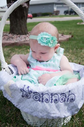 Hannah in her basket.