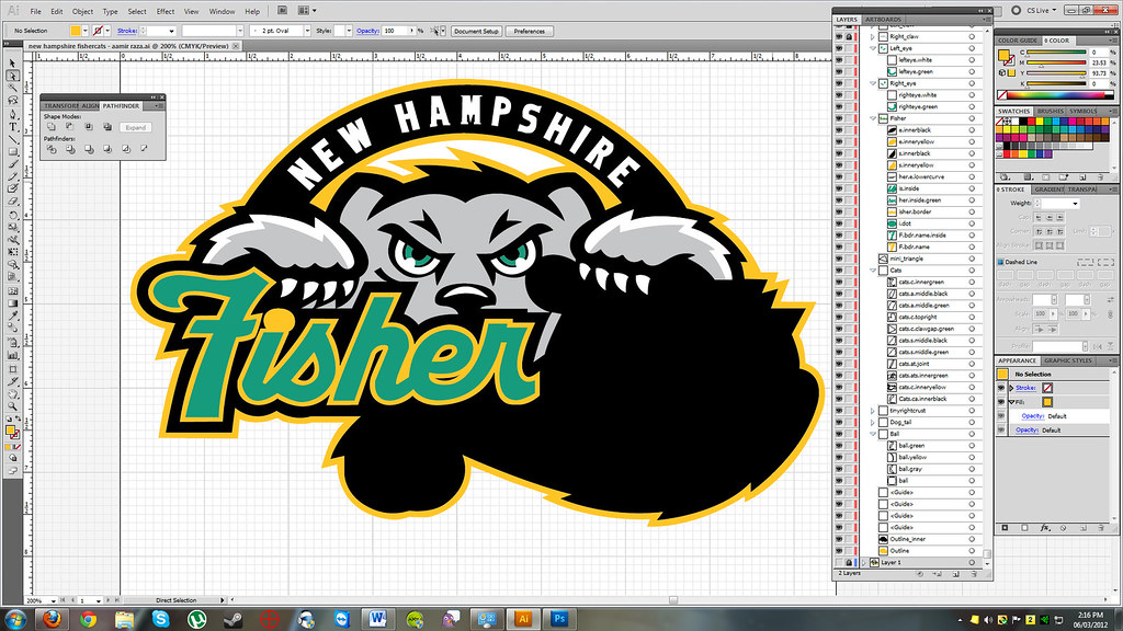 Coloring in the logo