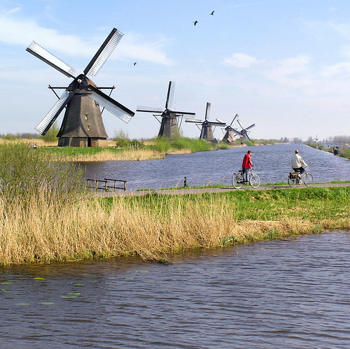 The famous Windmills of Kinderdijk