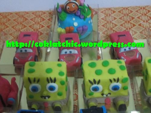 Minicake Spongebob, minicake cars dan minicake nemo