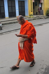 Texting Monk