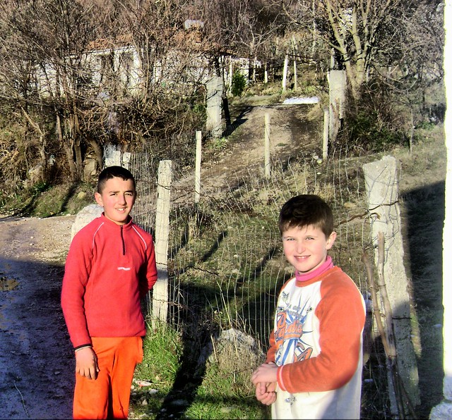 Children in Pellumbas village, Albania