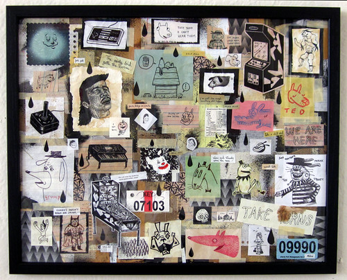 "16x20"" framed collage"